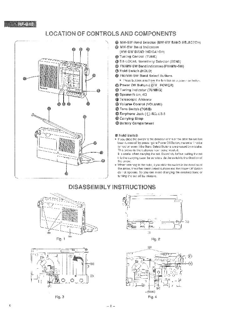 NATIONAL RF B10 Service Manual download, schematics, eeprom, repair
