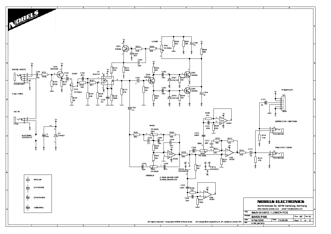 Bass Preamp Schematic Help Needed PDF Download - softwaremonster info