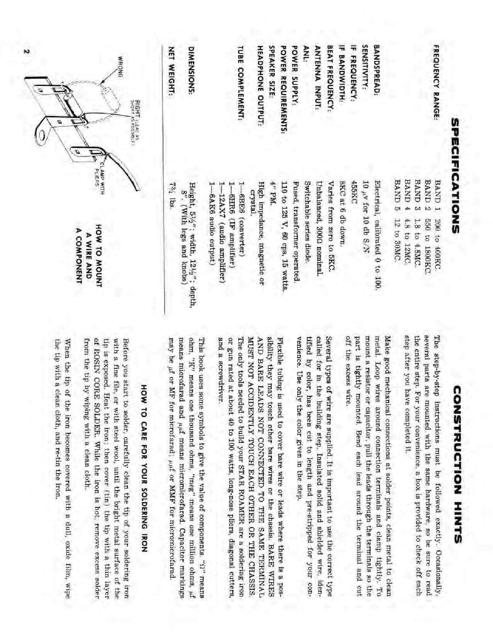 ALLIED RADIO CORP KNIGHT-KIT STAR ROAMER Service Manual download