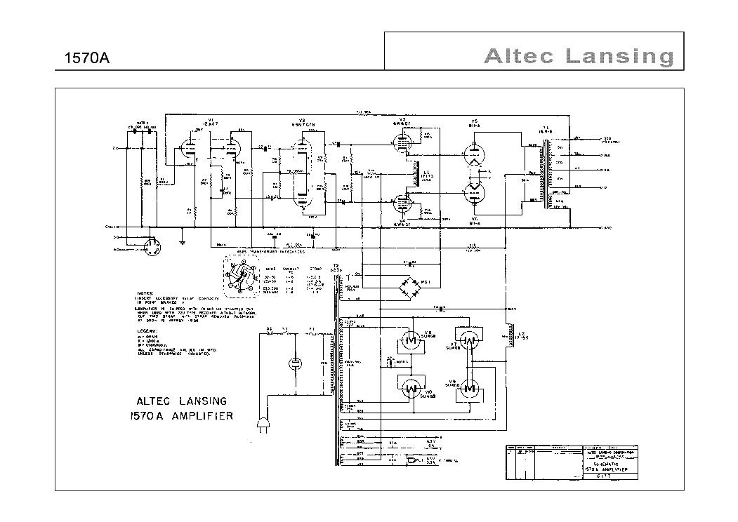 altec lansing schematics diagram