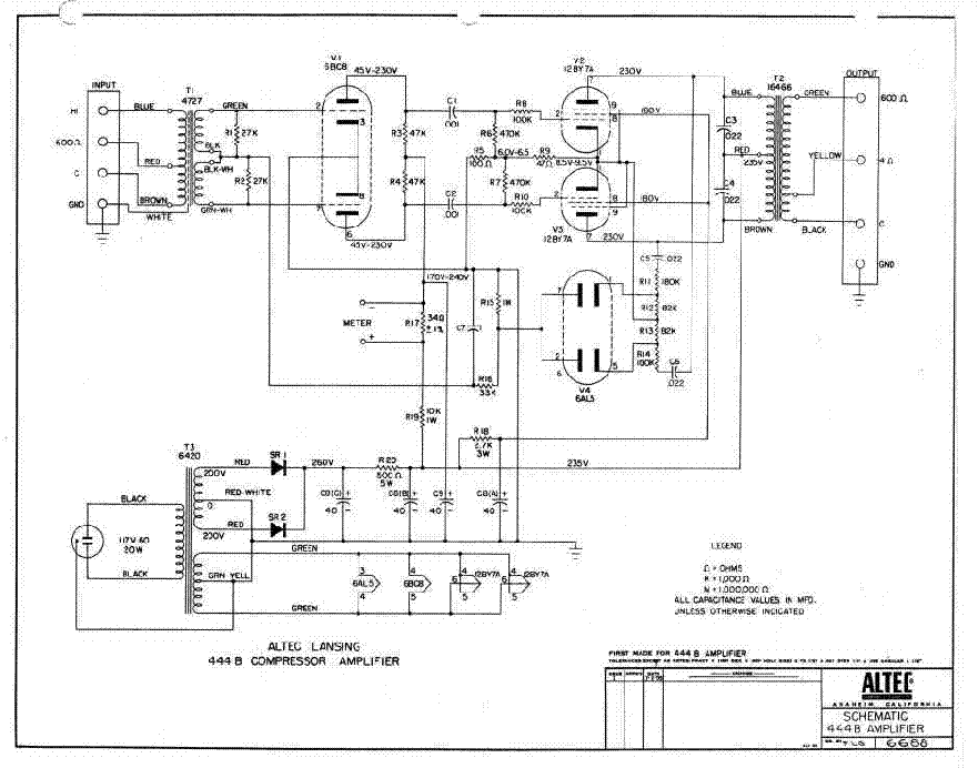Wiring Diagram Altec Also Lansing Schematics wiring
