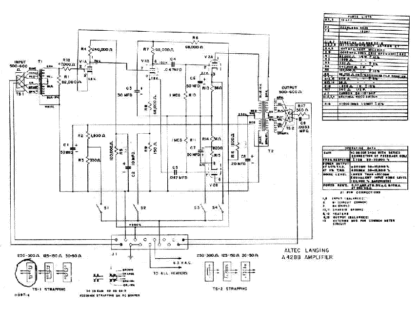 wiring diagram altec also lansing schematics