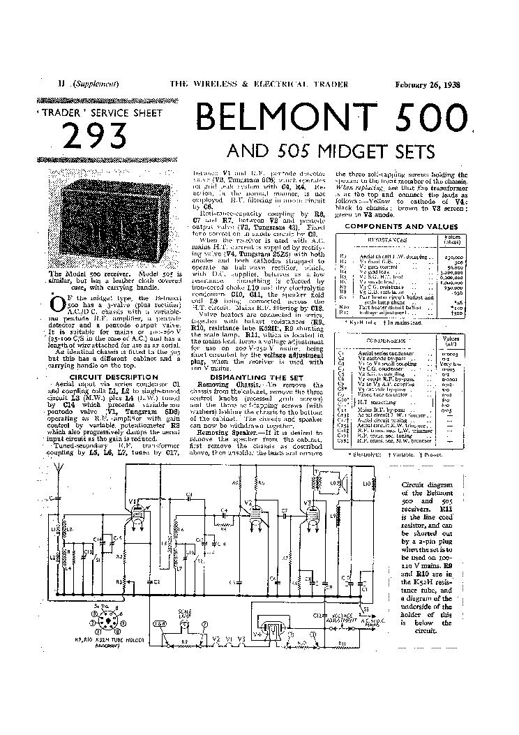 belmont 500 am radio receiver service manual download schematics rh elektrotanya com belmont dental chair service manual belmont rapid infuser service manual
