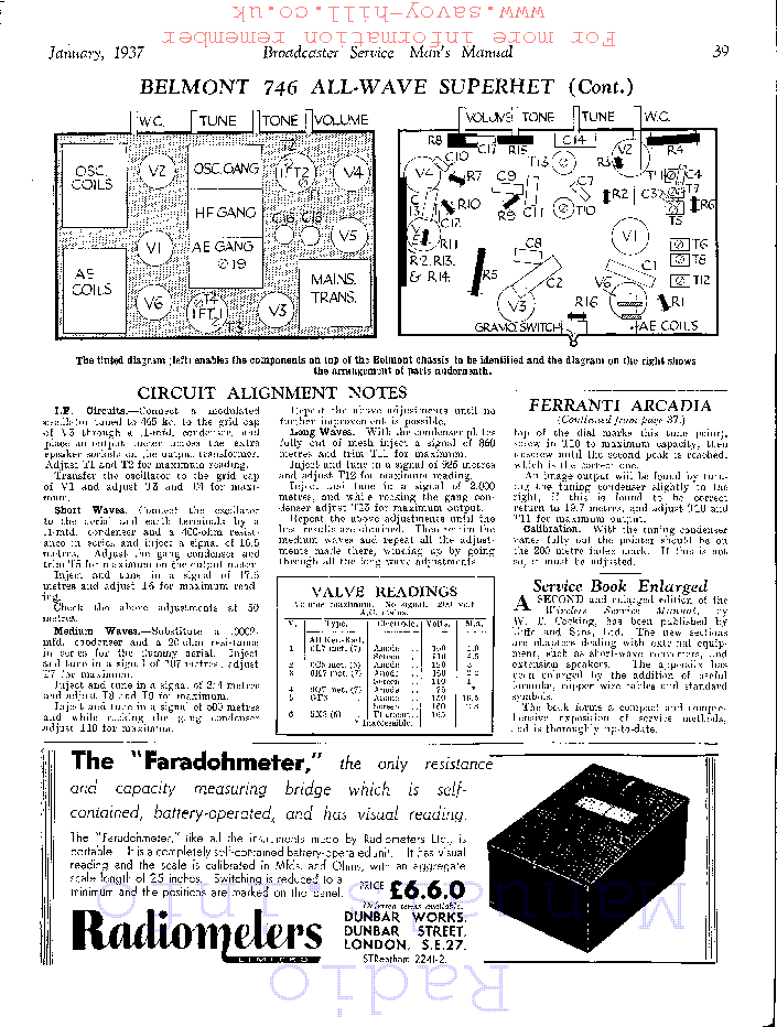 BELMONT 746 service manual (2nd page)