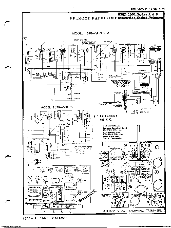 BELMONT RADIO CORP. 1070 SCH service manual (2nd page)
