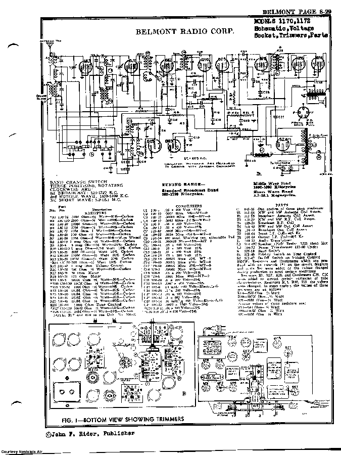 BELMONT RADIO CORP. 1170 SCH service manual (2nd page)