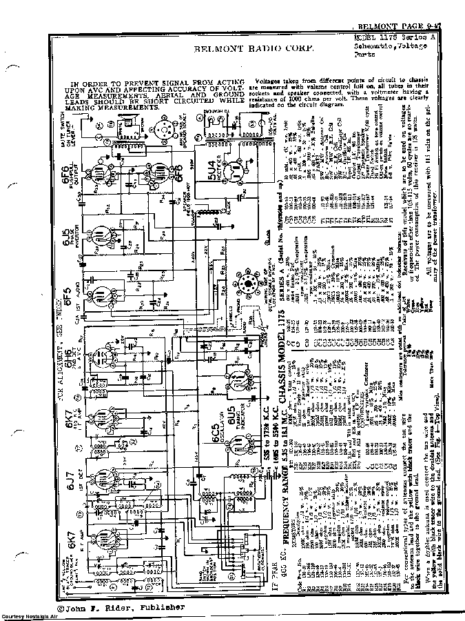 BELMONT RADIO CORP. 1175, SERIES A SCH service manual (2nd page)