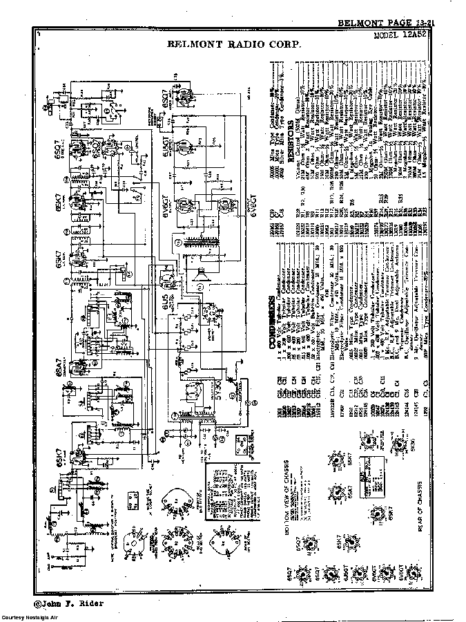 BELMONT RADIO CORP. 12A52 SCH service manual (2nd page)