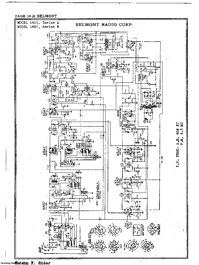 BELMONT RADIO CORP. 1401, SERIES A SCH service manual (2nd page)