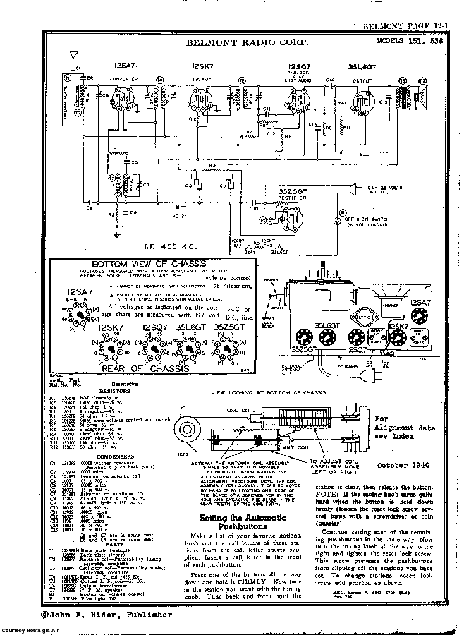 BELMONT RADIO CORP. 151 SCH service manual (2nd page)
