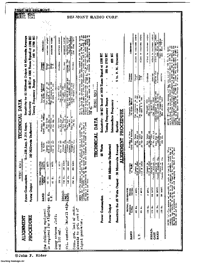 BELMONT RADIO CORP. 4BA1 SCH service manual (2nd page)