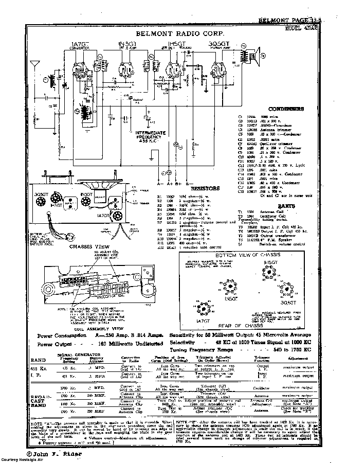 BELMONT RADIO CORP. 4BA2 SCH service manual (2nd page)