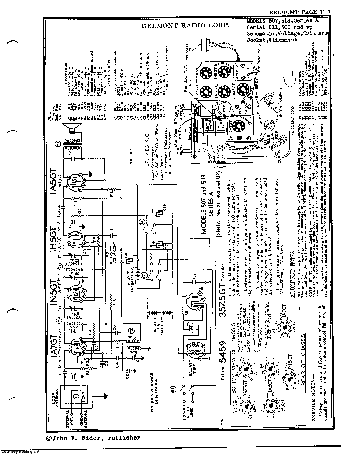 BELMONT RADIO CORP. 513, SERIES A SCH service manual (2nd page)