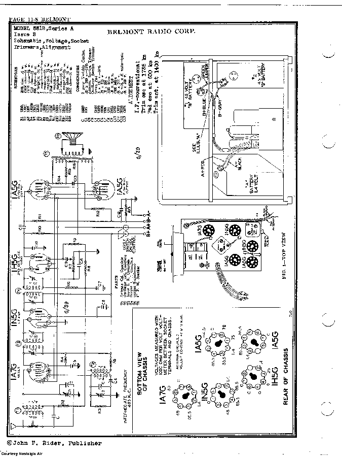 BELMONT RADIO CORP. 551B, SERIES A SCH service manual (2nd page)