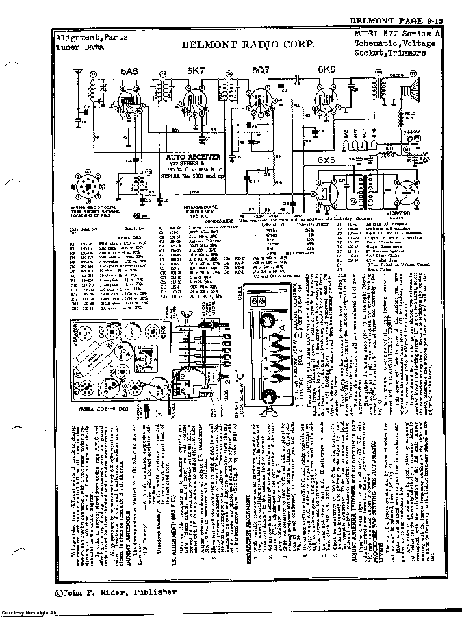 BELMONT RADIO CORP. 577. SERIES A SCH service manual (2nd page)