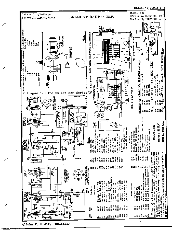 BELMONT RADIO CORP. 582, SERIES A-B SCH service manual (2nd page)