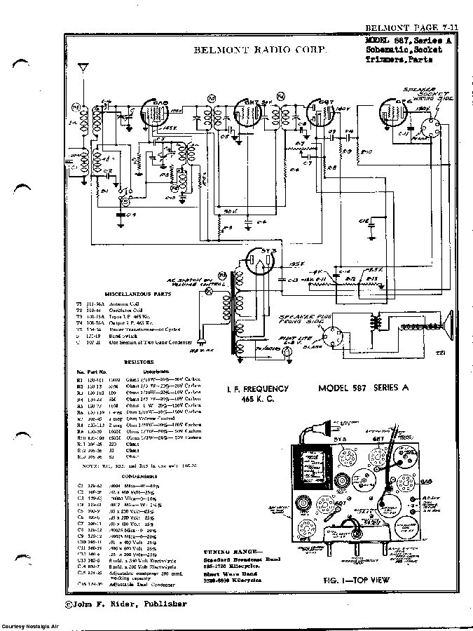 BELMONT RADIO CORP. 587 SCH service manual (2nd page)