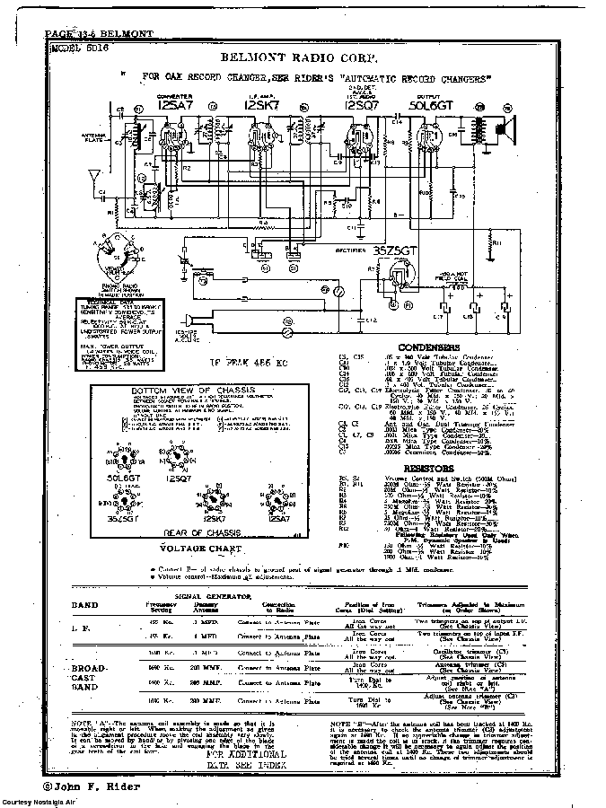 BELMONT RADIO CORP. 5D16 SCH service manual (2nd page)