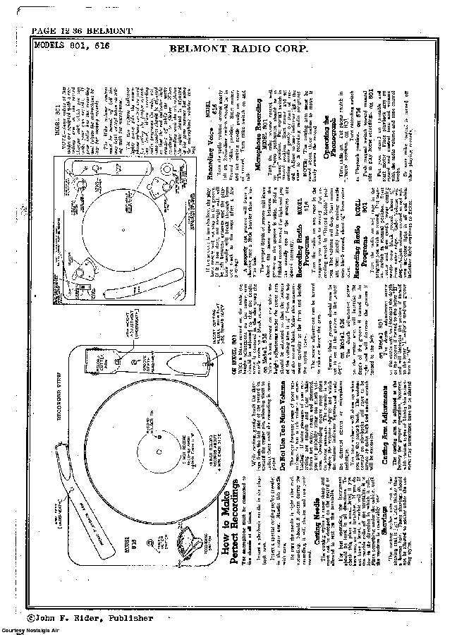 BELMONT RADIO CORP. 616 SCH service manual (2nd page)