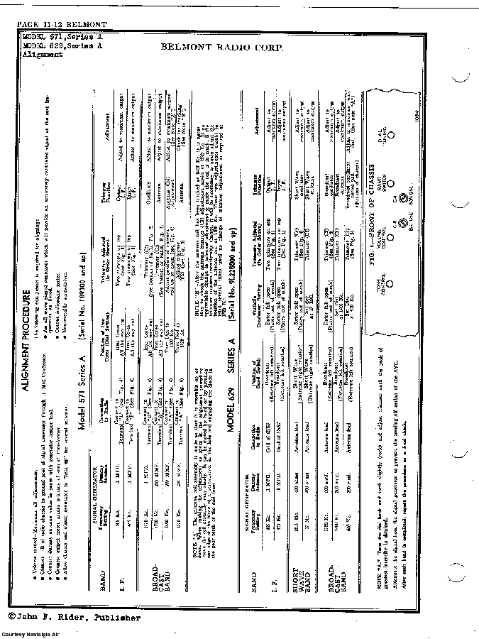 BELMONT RADIO CORP. 629, SERIES A SCH service manual (2nd page)