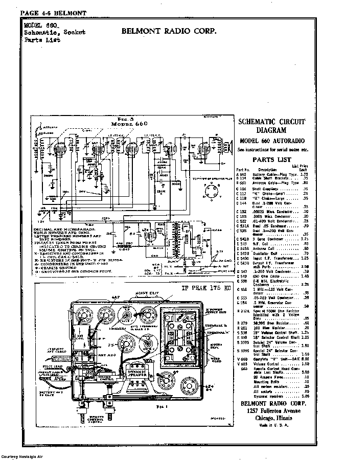 BELMONT RADIO CORP. 630 SCH service manual (2nd page)