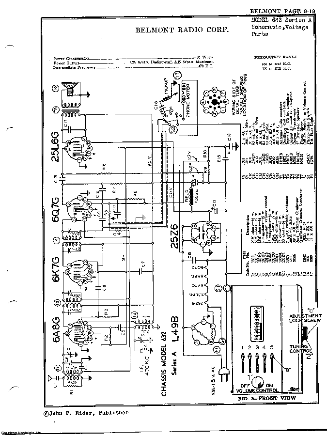 BELMONT RADIO CORP. 632, SERIES A SCH service manual (2nd page)