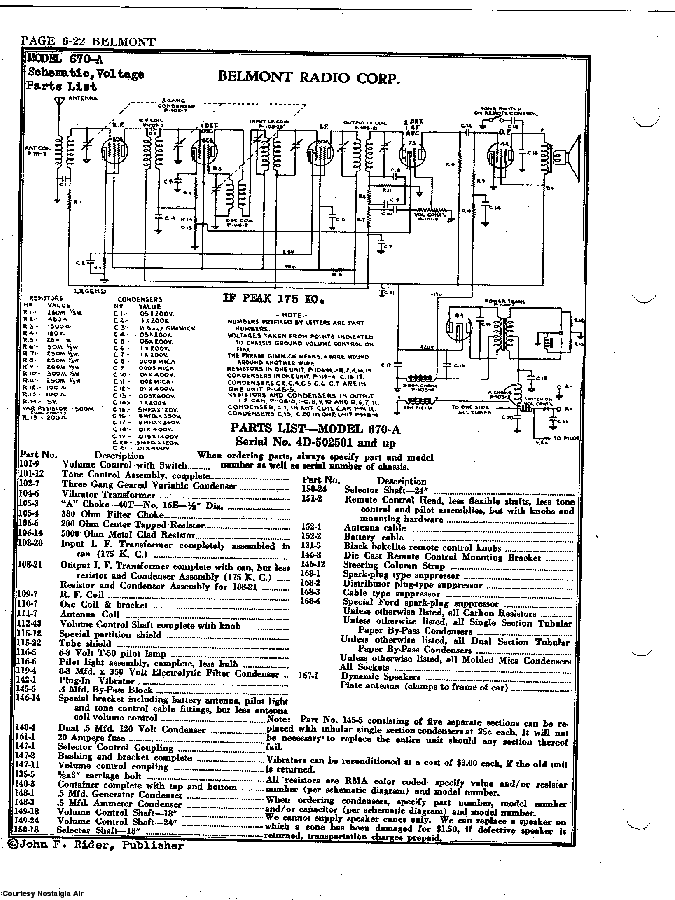 BELMONT RADIO CORP. 670-A SCH service manual (2nd page)