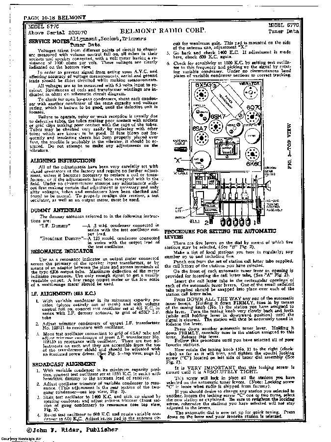 BELMONT RADIO CORP. 677C SCH service manual (2nd page)
