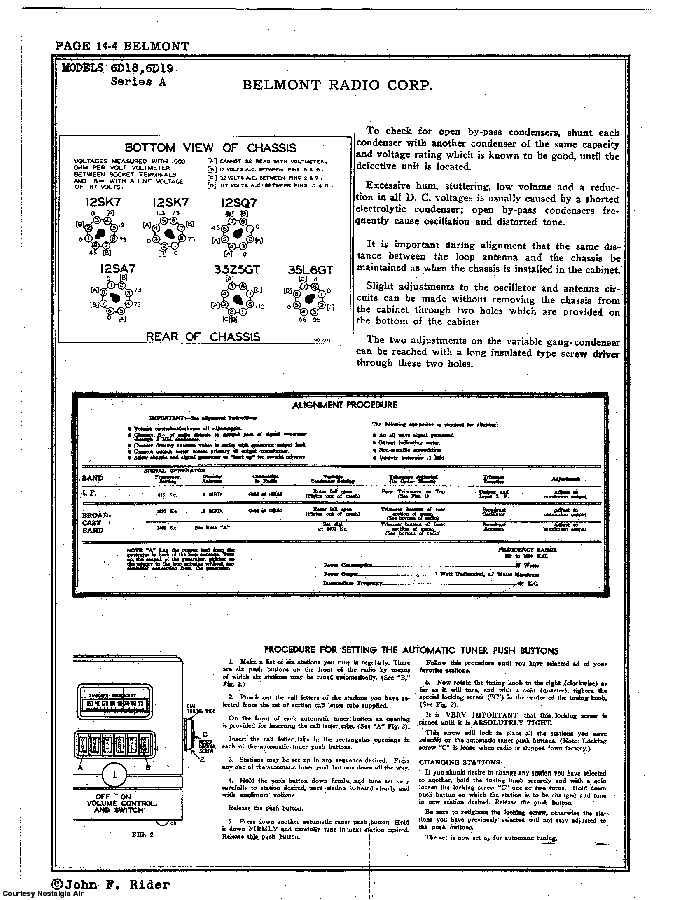 BELMONT RADIO CORP. 6D18 SCH service manual (2nd page)
