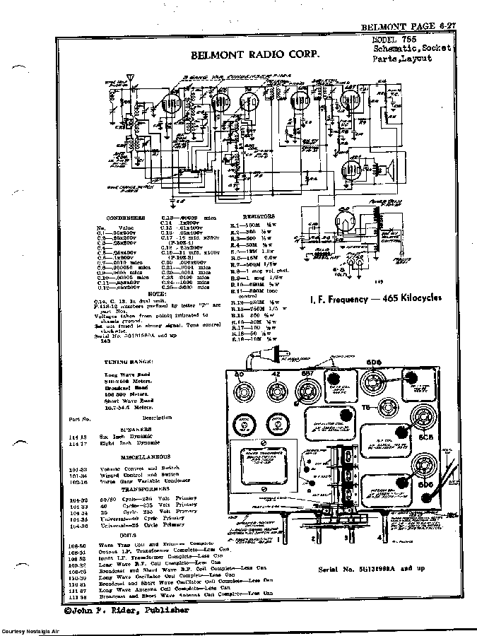 BELMONT RADIO CORP. 755 SCH service manual (2nd page)