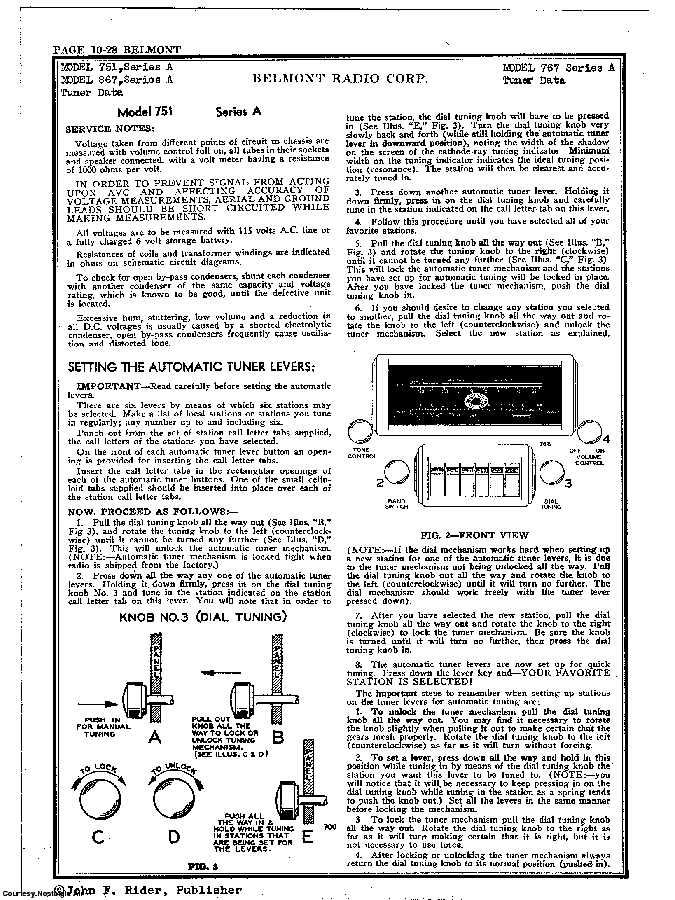 BELMONT RADIO CORP. 767 SCH service manual (2nd page)