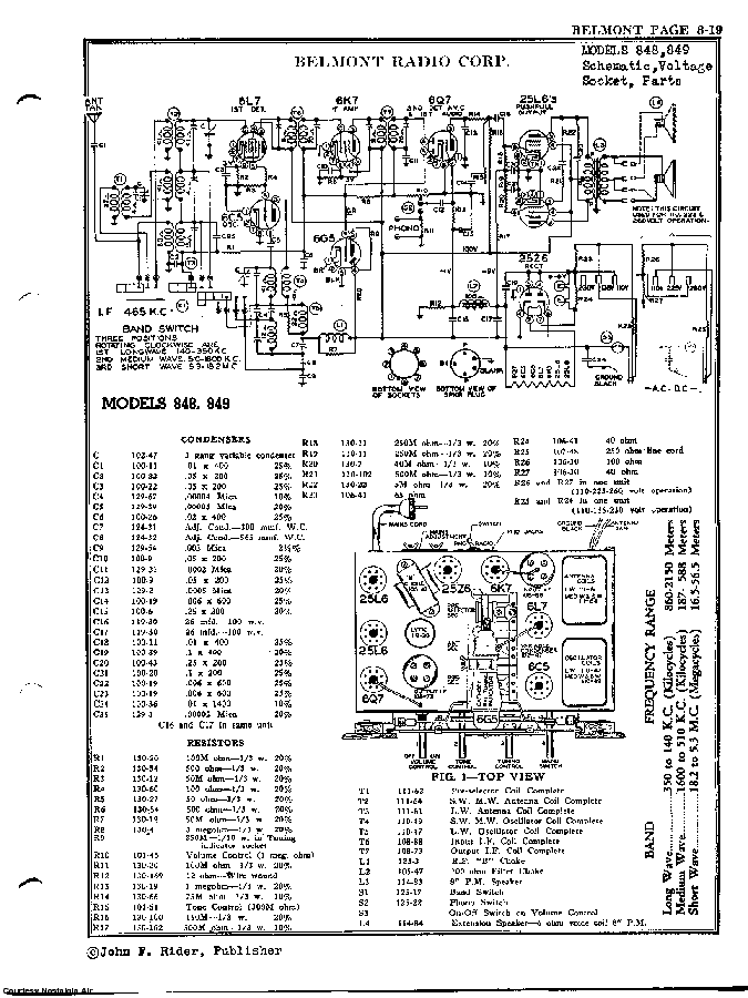 BELMONT RADIO CORP. 848 SCH service manual (2nd page)