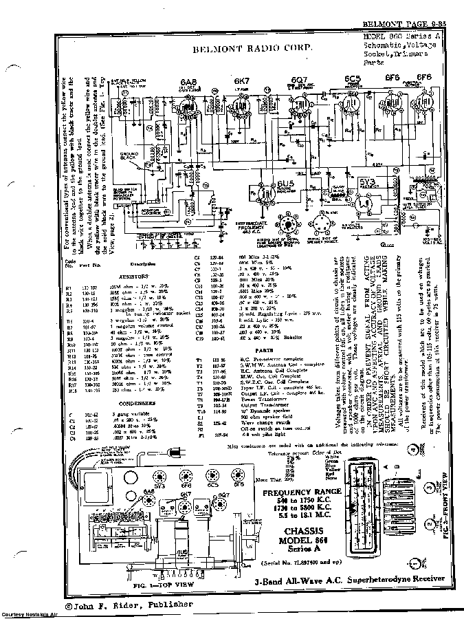 BELMONT RADIO CORP. 860, SERIES A SCH service manual (2nd page)