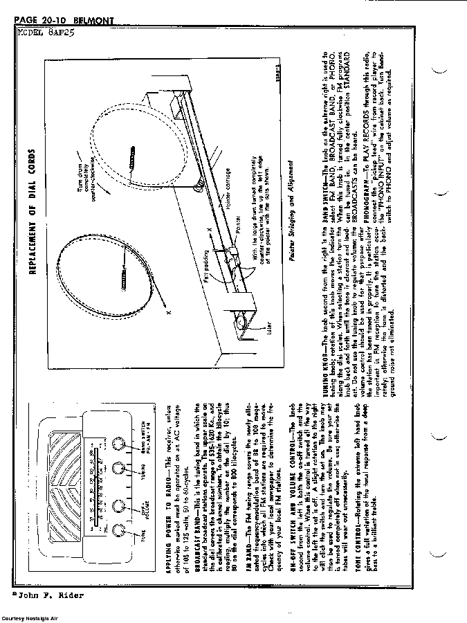 BELMONT RADIO CORP. 8AF25 SCH service manual (2nd page)