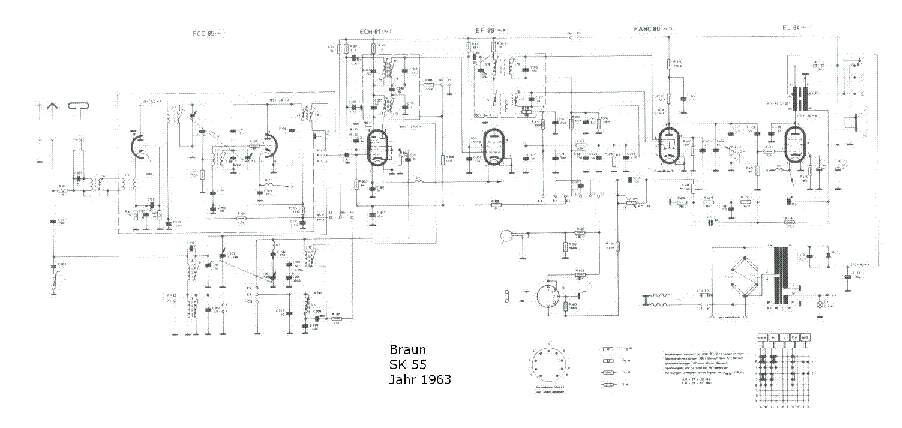 BRAUN SK 55 service manual (1st page)