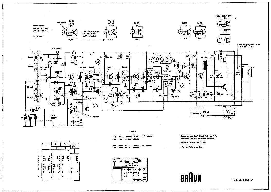 Braun Transistor 2 Am Radio Receiver Sch Service Manual