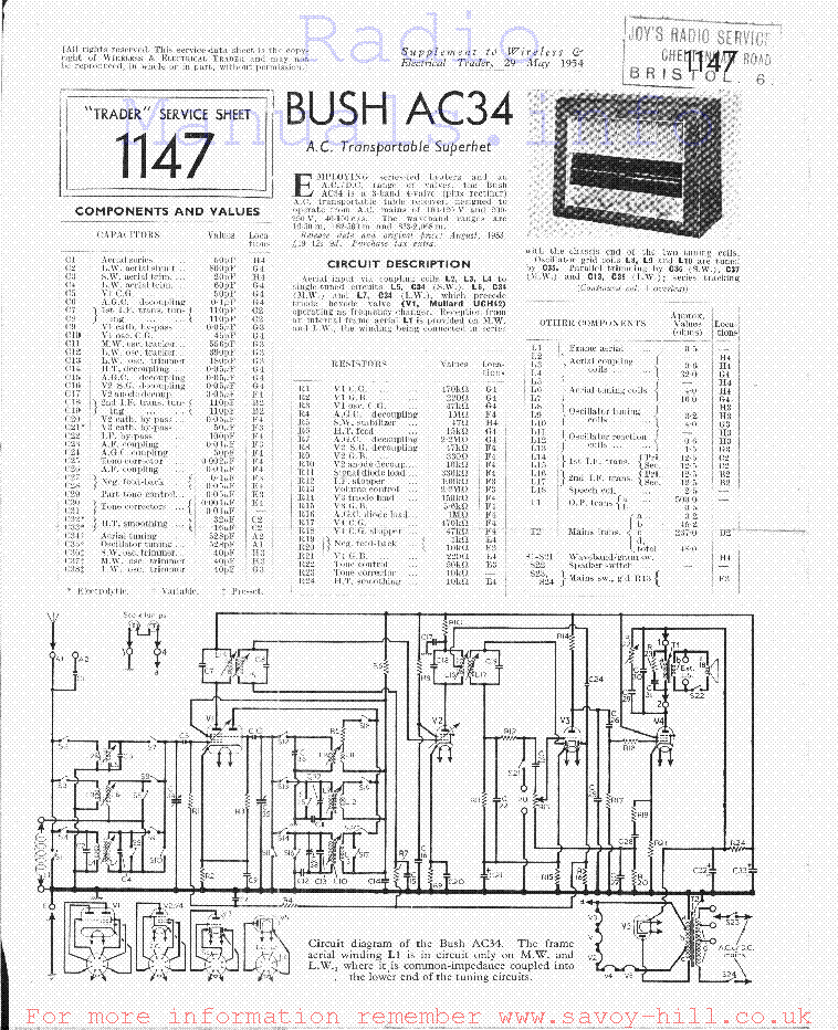 bush ac34 service manual download schematics eeprom repair info rh elektrotanya com bush hog th4400 repair manual bush hog 3210 repair manual