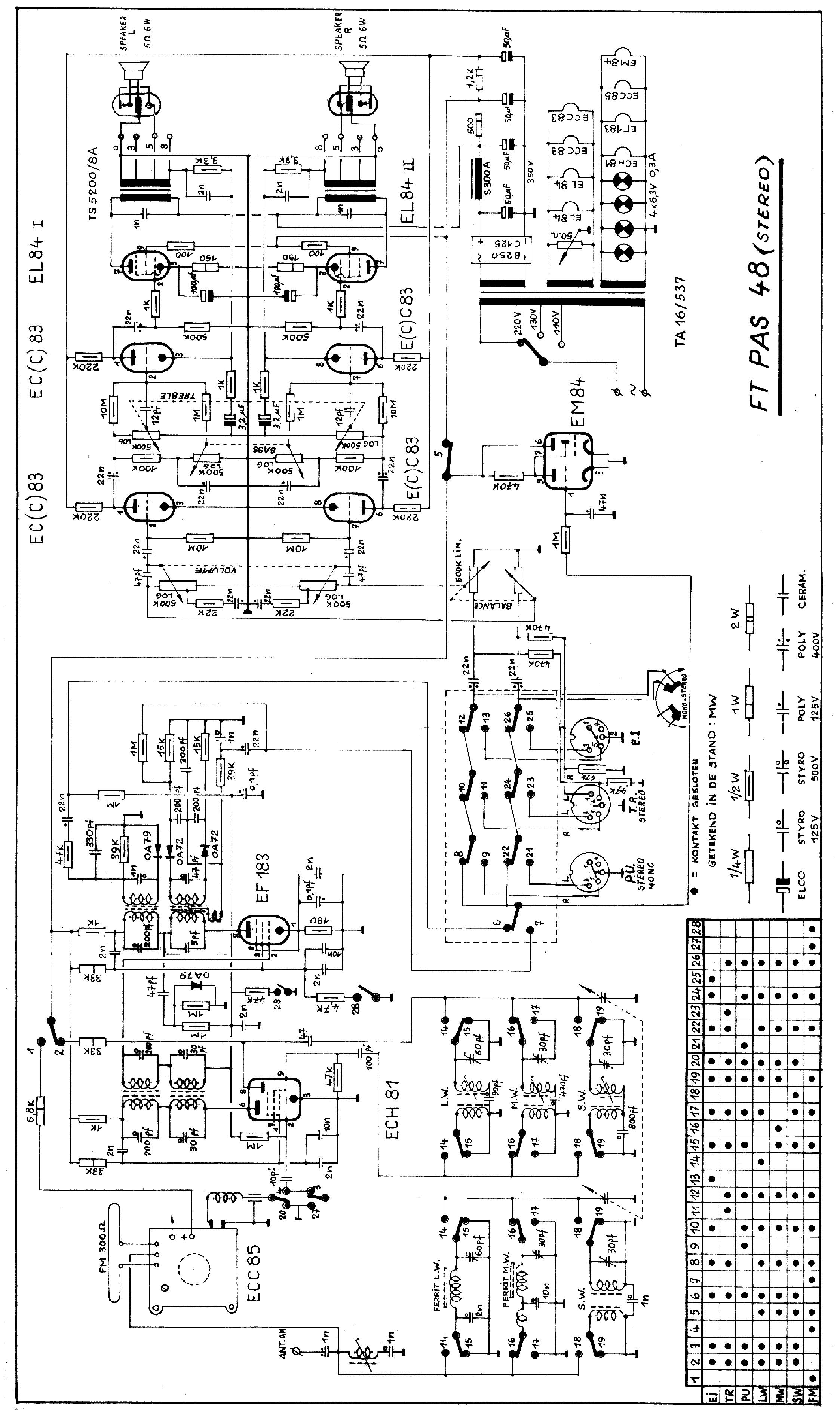 carad epas63 2x10w stereo transistor amplifier sch service