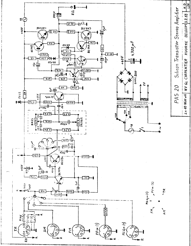 carad mpps65 stereo transistor pre amplifier 1968 sch service manual download  schematics