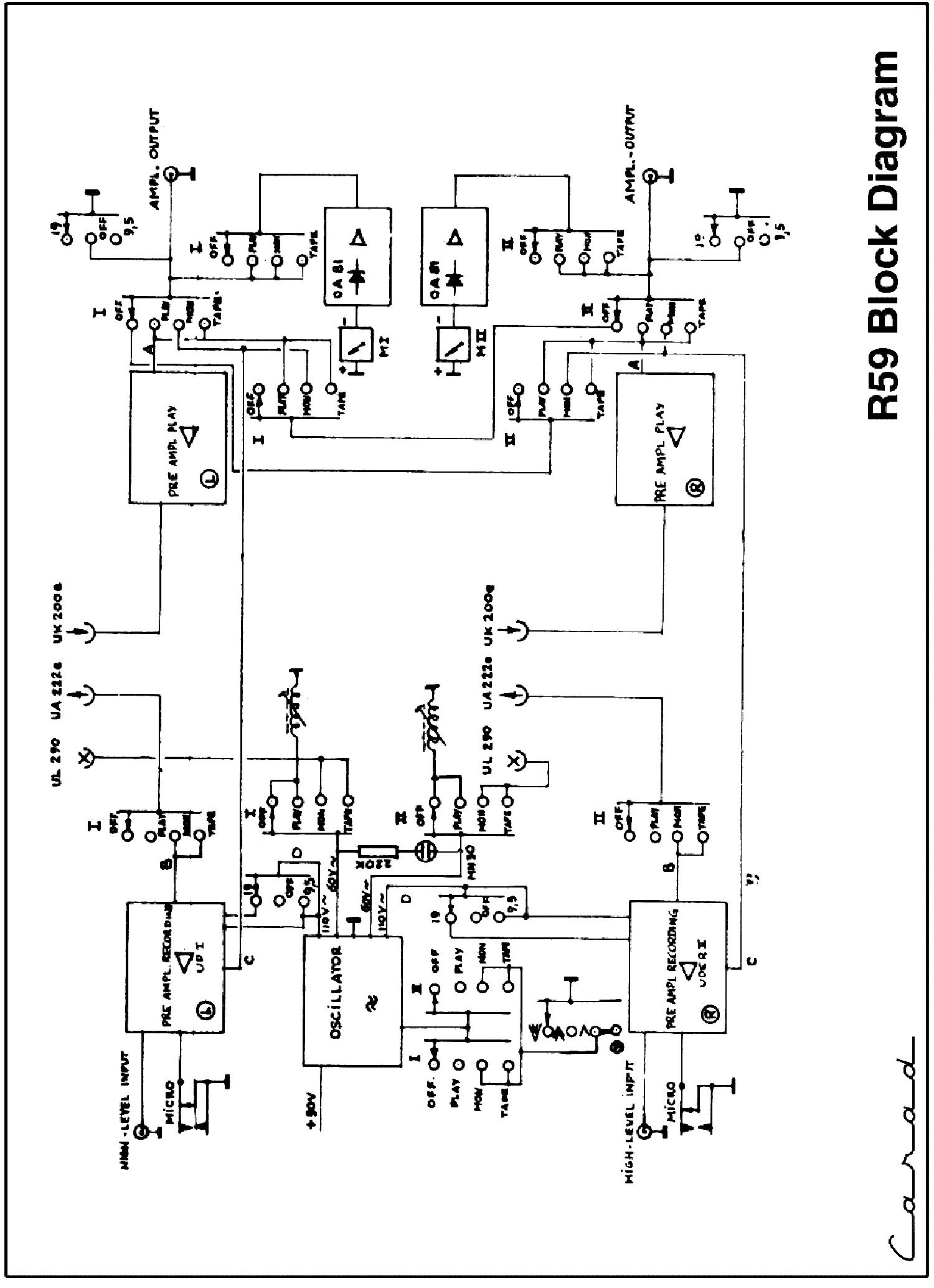 carad r59 tape recorder sch service manual download