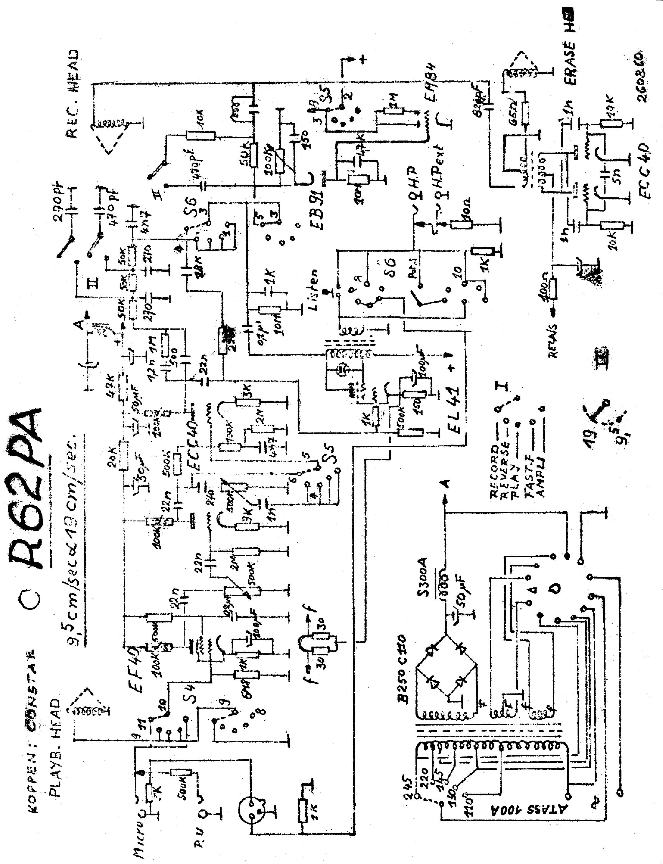 carad pptr33 b oc70 oc71 transistor stereo pre amplifier 1960 sch service manual download