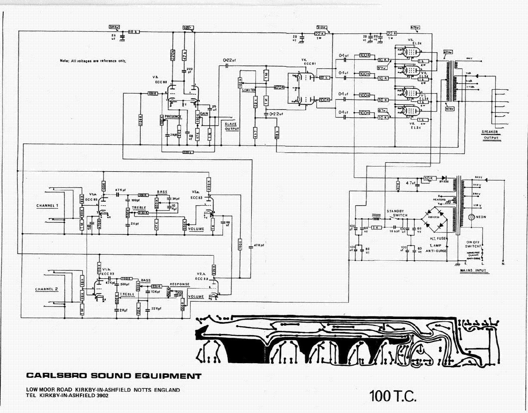 CARLSBRO 100TC SCH service manual (1st page)
