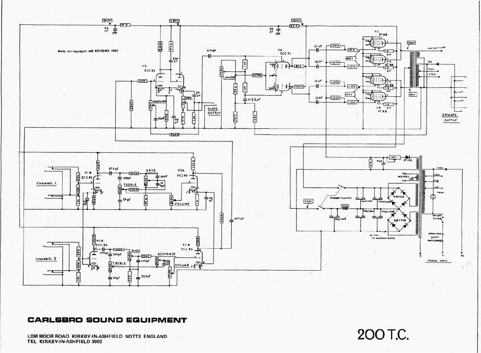 CARLSBRO 200TC SCH service manual (1st page)