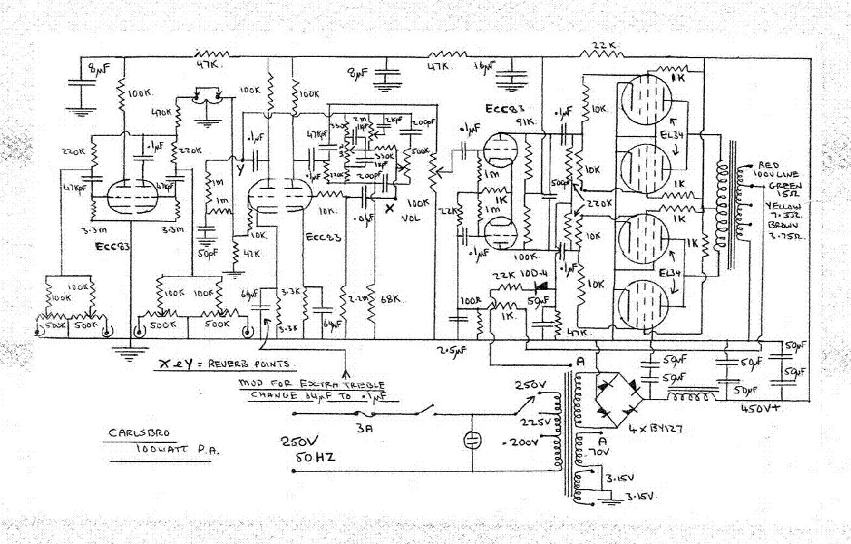 CARLSBRO CS100 PA SCH service manual (1st page)