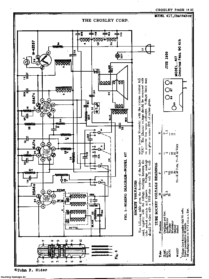 CROSLEY CORP. CHATTERBOX SCH Service Manual download, schematics, eeprom,  repair info for electronics expertsElektrotanya