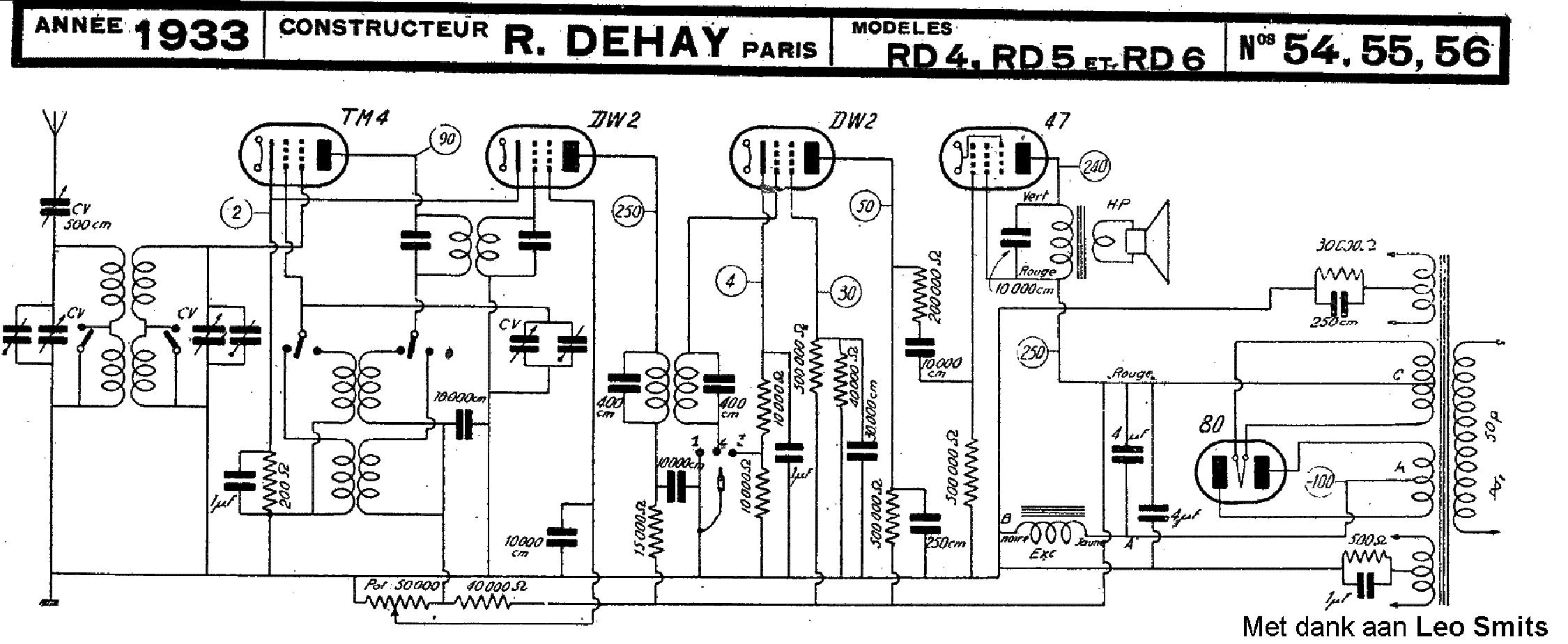 dehay rd4 rd5 rd6 radio 1933 sch service manual download schematics rh elektrotanya com rd4 radio user manual rd4 radio user manual