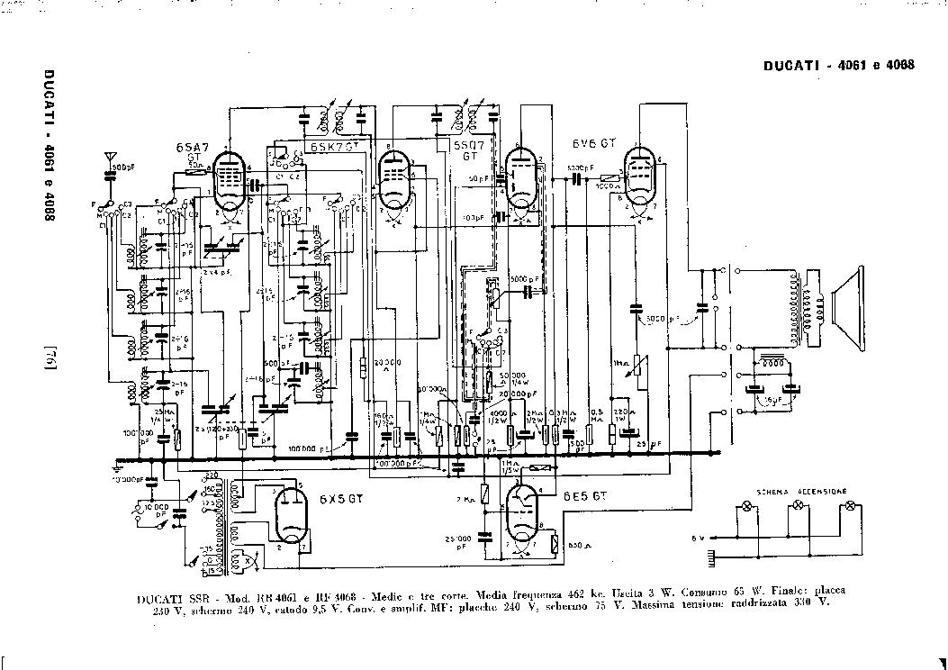 ducati rr4061 rr4068 am radio receiver sch service manual