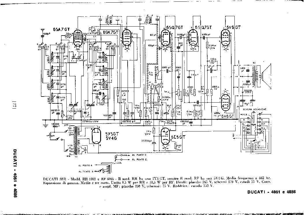 ducati rr4081 rr4086 am radio receiver sch service manual