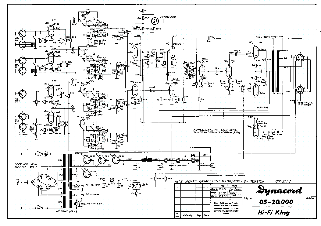 dynacord hifi king 1960 service manual download  schematics  eeprom  repair info for electronics
