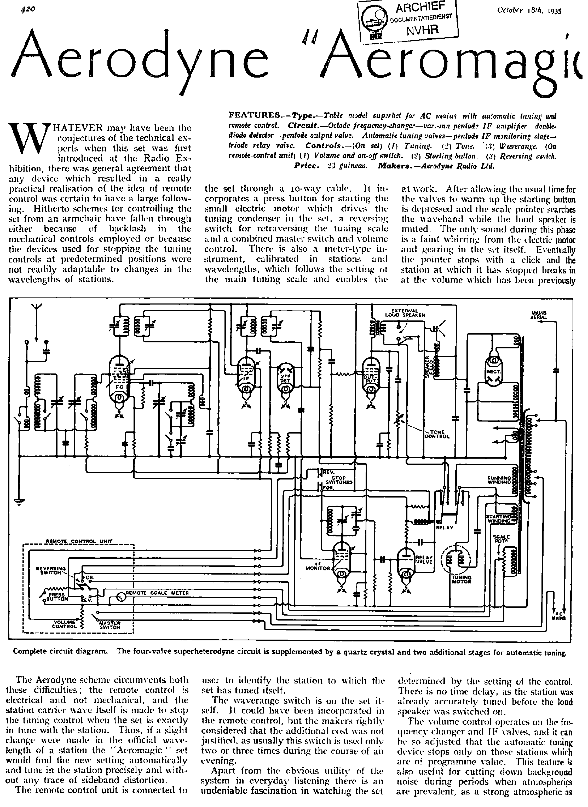 Aerodyne Aeromagic Receiver 1935 Sm Service Manual Download Mag Ic Motor Starter Wiring Diagram 1st Page